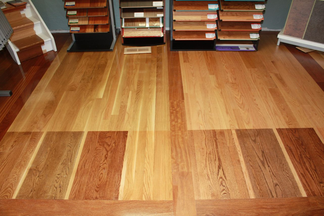 Red oak flooring stain colors alyssamyers for Hardwood floor colors
